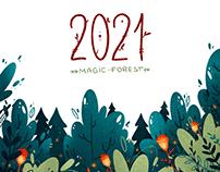 Magic Forest. Calendar 2021