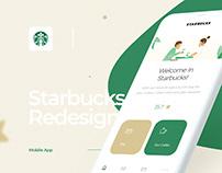 Starbucks Redesign Mobile App