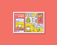 Loving Myself Promotion Postcard