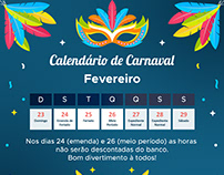 COMUNICADO DE SEMANA DE CARNAVAL