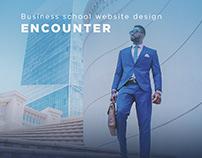 Website design concept. Business school.