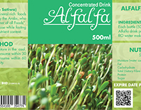 DR Nutrition Alfalfa Concentrated Drink Label Design
