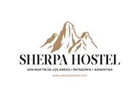 Marca institucional para SHERPA HOSTEL