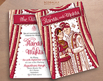 Hindu Punjabi Wedding Invitation