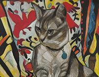 Ophelia, Portrait of Fern's Cat