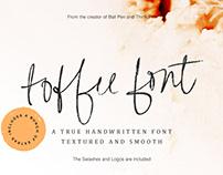 Toffee Handwritten Font & Extras