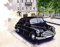 Retro car in Moskow