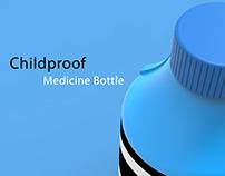 Childproof Medicine bottle