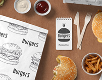 Burger restaurant branding template