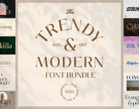 The Trendy & Modern Font Bundle - 94% Off