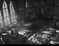 The Little Vampire - Set Design Castle Kitchen