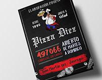 Diseño de menú para Pizza Diez