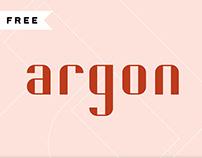 FREE | Argon Font