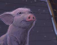 Arnie the pig is being bullied