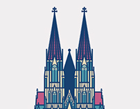 Illustrations of Germany attractions