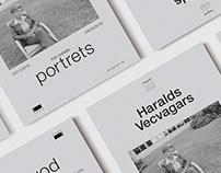 Haralds Vecvagars: portrets | Photo exhibit poster