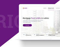 Landing page for Mortgage Loans Company