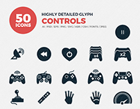JI-Glyph Controls Icons Set