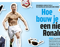 Spread for Voetbal International PRO Magazine
