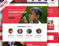 Free PSD : Non Profit Organization Website Template PSD