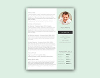 Free Creative CV template with Streamlined Layout