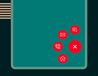 Animated floating button
