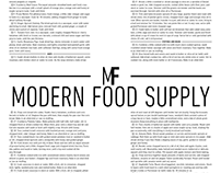 Typography Experiment: Conceptual Grocery Flyer