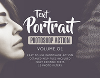 Text Portrait Photoshop Actions