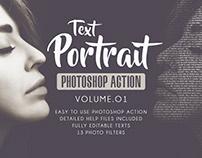 Text Portrait Photoshop Actions