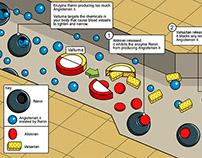 drug diagram medical working of a drug