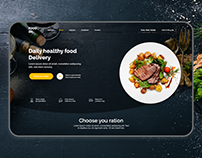 Food Delivery Landing page [ Concept 2019 ]