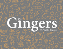 Gingers | Menu Design