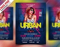 Free PSD : Urban Party Flyer Design PSD