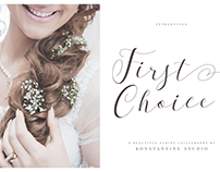 First Choice – Wedding Calligraphy Font