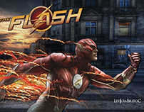 Capa de Facebook do personagem The Flash