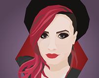 ILUSTRAÇÃO: Demi Lovato em WPAP