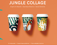 Jungle Collage | Seamless Patterns and Artboards