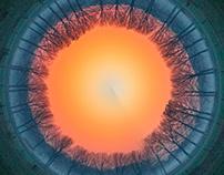 Circular burning sky