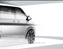 Volkswagen T6 (2016) Press Sketches
