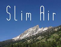 Slim Air - font design