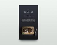 UI Challenge 11 - SUNRISE