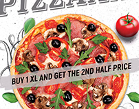 Pizza Flyer Menu Template