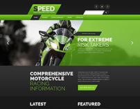 Motor Racing Website Template