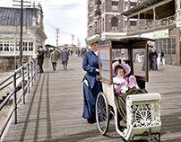A Stroll Down the Atlantic City Boardwalk, 1905.