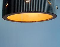 Kropki lampy z kartonu / Dot cardboard lamps