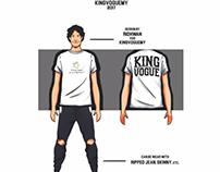 Illustration and apparel design for KingVogue Apparel