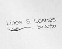 Logo Design for Lines and Lashes Beauty by Anita