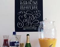 Chalkboard lettering for bridal shower
