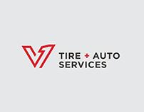 V1 Tire + Auto Services   Branding