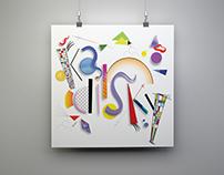 Kandinsky Inspired Typography